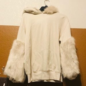 Express fuzzy pullover